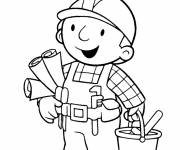 Coloring pages Bob the handyman ready to work