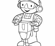 Coloring pages Bob the professional handyman