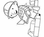 Coloring pages Bob the worker