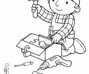 Coloring pages cartoon bob the builder