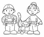Coloring pages Zoey and bob the builder free to color
