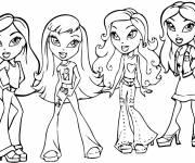 Coloring pages Bratz and friends