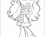 Coloring pages Bratz in color