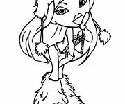 Coloring pages Bratz in Winter