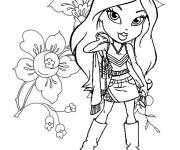Coloring pages Bratz to decorate