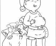 Coloring pages Caillou free drawing