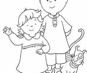 Coloring pages Caillou online