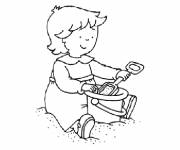 Coloring pages Caillou to print