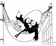 Coloring pages Calimero cartoon 2015