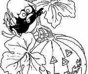 Coloring pages Calimero Halloween