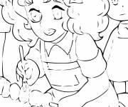 Coloring pages Beautiful Candy
