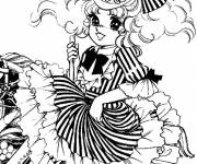 Coloring pages Candy and pretty dress