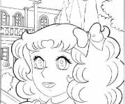 Coloring pages Candy very happy