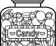 Coloring pages The year of Candy