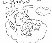 Free coloring and drawings Bears while sleeping Coloring page