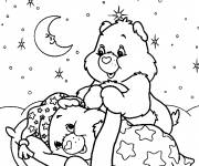 Coloring pages Care bears prepare to sleep