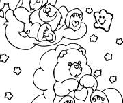 Free coloring and drawings care bears rest Coloring page