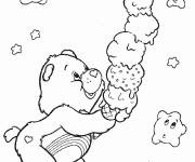 Free coloring and drawings Caregivers eat ice cream Coloring page