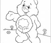 Free coloring and drawings Cute care bear Coloring page