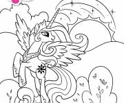 Coloring pages Celestia