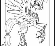 Coloring pages Celestia angry