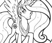 Coloring pages Celestia My Little Pony