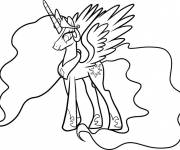Coloring pages Celestia simple