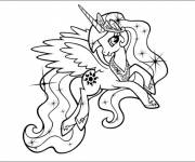 Coloring pages Celestia smiles