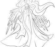Coloring pages Celestia the queen