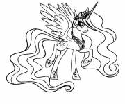 Coloring pages Celestia to print