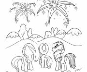Coloring pages Celestia with her friends