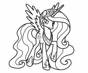 Coloring pages Easy celestia