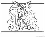 Coloring pages The gorgeous Celestia