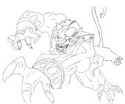 Coloring pages Chaotic Attacat