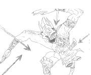 Coloring pages Chaotic Illazar