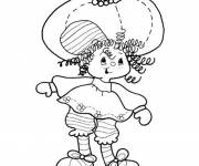 Coloring pages Easy drawing of Strawberry Shortcake