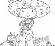 Coloring pages Easy Strawberry Shortcake