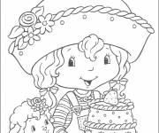 Coloring pages Strawberry and her friends