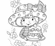 Coloring pages Strawberry Shortcake