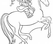 Coloring pages Strawberry Shortcake on her horse