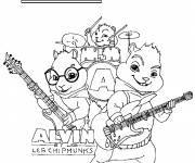 Coloring pages Alvin and the Chipmunks