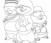 Coloring pages Alvin and the Chipmunks free