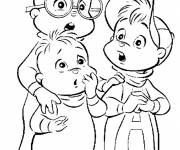 Coloring pages Alvin and the Chipmunks movie