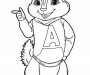 Coloring pages Alvin Chipmunks to print