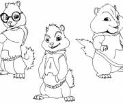 Coloring pages Chipmunks