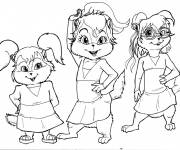 Coloring pages Chipmunks and corpses