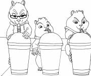 Coloring pages Chipmunks to download