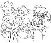 Coloring pages Jeanette Chipmunks