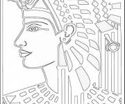 Coloring pages Cleopatra's drawing