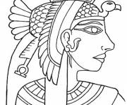 Coloring pages Cleopatra The Egyptian Queen